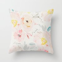 Watercolor Field Throw Pillow