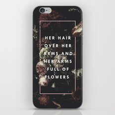 Arms Full Of Flowers iPhone & iPod Skin
