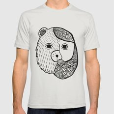 Werebear Mens Fitted Tee Silver SMALL
