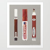 Markers: Pantone + Edding (1st edition) Art Print