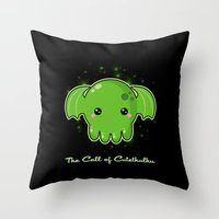 The Call Of Cutethulhu Throw Pillow