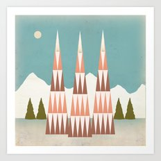 The Mountain View Art Print