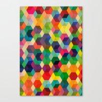 Hexagonzo Canvas Print