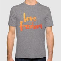 Love Your Freedom Mens Fitted Tee Tri-Grey SMALL
