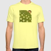 Welcome back spring! Mens Fitted Tee Lemon SMALL
