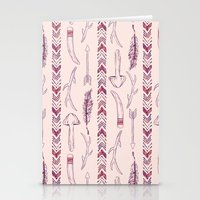Tribal Mushroom Stationery Cards