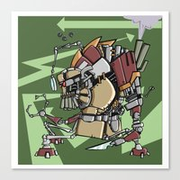 JunkBot Canvas Print