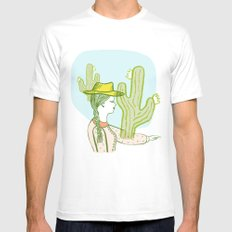 Westward Ho! White Mens Fitted Tee SMALL