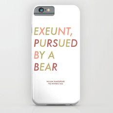 Shakespeare - The Winter's Tale - Exeunt Exit Pursued by a Bear iPhone 6 Slim Case