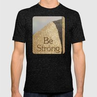 Be Strong Mens Fitted Tee Tri-Black SMALL