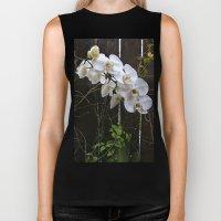 White Orchid Biker Tank