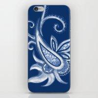 Lace Paisley: Blue Tonal… iPhone & iPod Skin