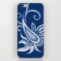 Lace Paisley: Blue Tonal… iPhone & iPod Skin