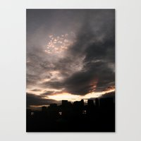 Canvas Print featuring Sky Fire by atwice