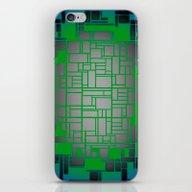 Teal Green Art Deco Patt… iPhone & iPod Skin
