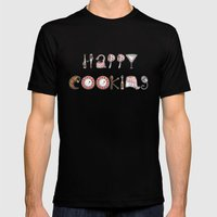 Happy Cooking Mens Fitted Tee Black SMALL