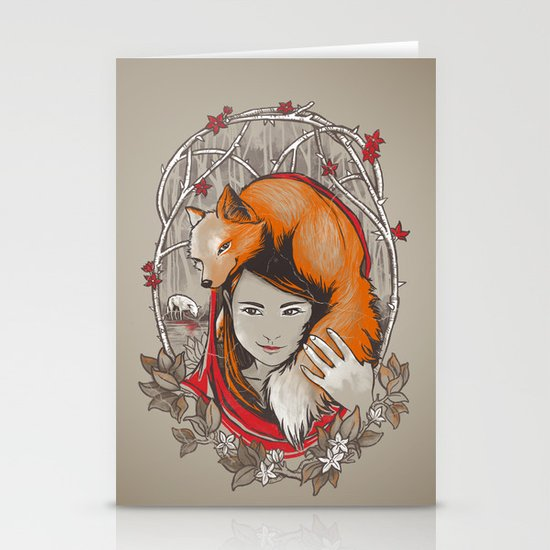 Safe in My Red Riding Hood Stationery Card