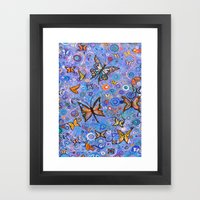 Butterflies are Free Framed Art Print
