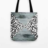 Waves/grid #3 Tote Bag