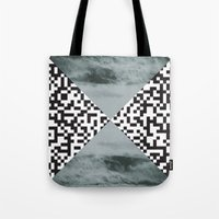waves/grid #3 Tote Bag