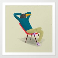 Art Print featuring Sitting On Chairs_two by Mark Conlan