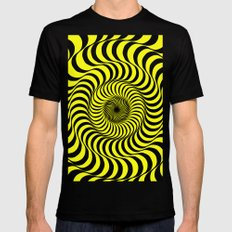70's Summer Fun SMALL Mens Fitted Tee Black