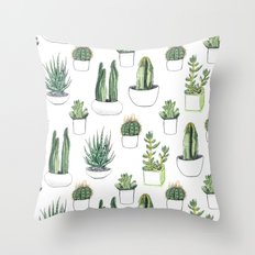 Watercolour Cacti And Su… Throw Pillow