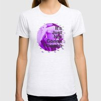 It's Just Not Gonna Happen < The NO Series (Purple) Womens Fitted Tee Ash Grey SMALL