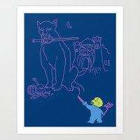 The Purple Crayon Of Kel… Art Print