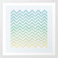 Zig Waves Art Print