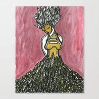 Feathered Fashion Canvas Print