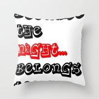 Patti Smith Throw Pillow