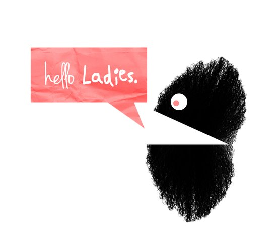 hello Ladies. Art Print