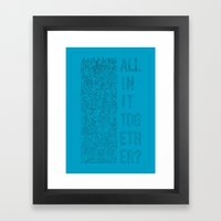 The Masses Against The Classes Framed Art Print
