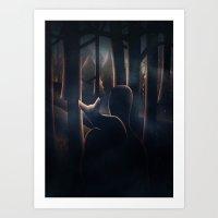 Shh! Art Print