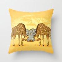 Safari Park Throw Pillow