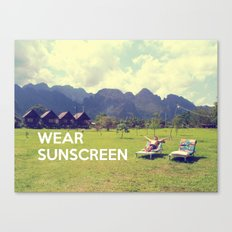 Wear Sunscreen Canvas Print