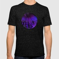 Blue feather Mens Fitted Tee Tri-Black SMALL