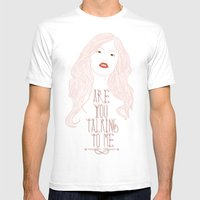 Are You Talking To Me ? Mens Fitted Tee White SMALL