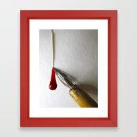 Mighty Pen Framed Art Print