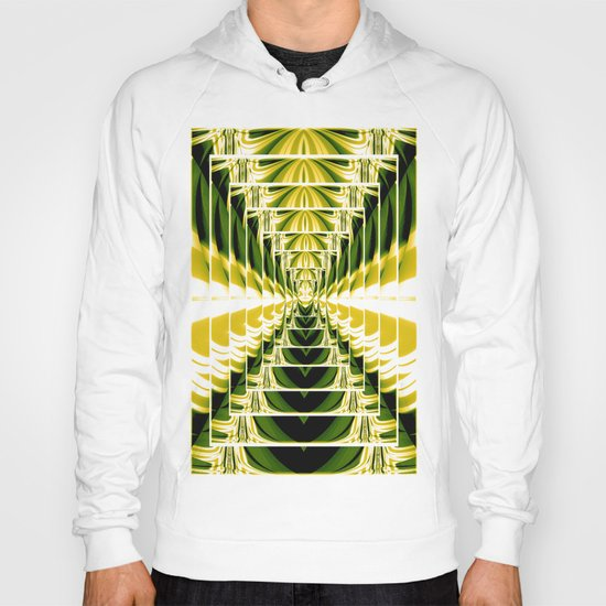 Abstract.Green,Yellow,Black,White,Lime. Hoody