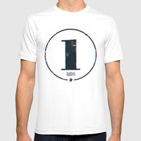 One 'Stamp' Mens Fitted Tee White SMALL