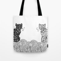 Black Cat White Cat Tote Bag