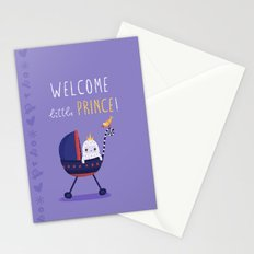 Welcome little prince! Stationery Cards