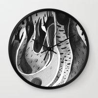 bird ink Wall Clock