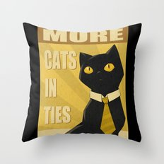 Cats in Ties - PSA Throw Pillow