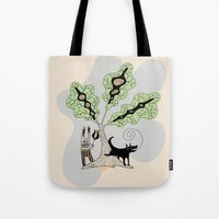 Black Dog And His Rabbit… Tote Bag