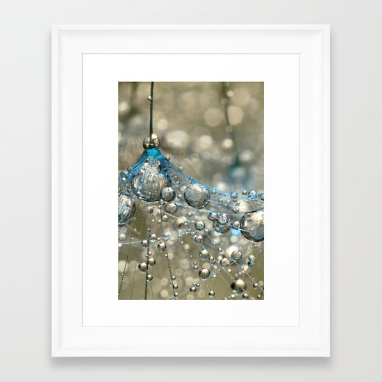 Cyan & Gold Framed Art Print