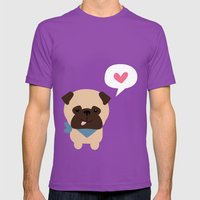 Pancho The Pug Mens Fitted Tee Ultraviolet SMALL