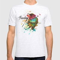 Freedom of colors Mens Fitted Tee Ash Grey SMALL